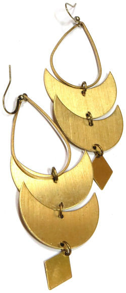 Handmade Brass Statement Earrings