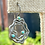 Thumbnail: Vintage Sterling Turquoise Accented Swirl Earrings