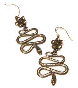 Brass Folkloric Earrings
