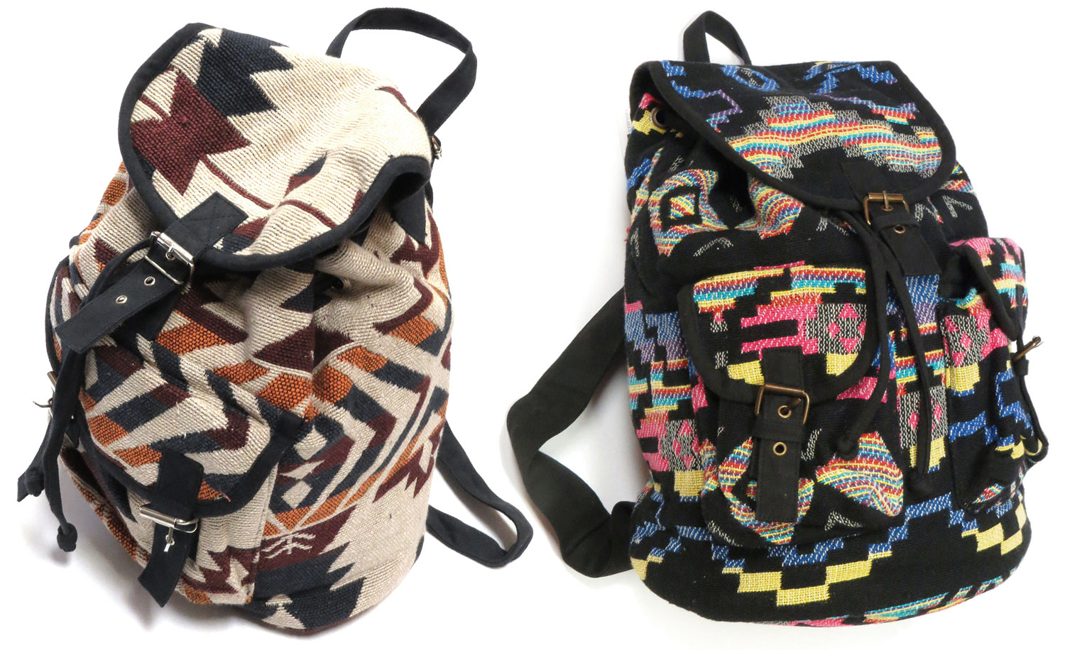 Woven Geo Backpacks