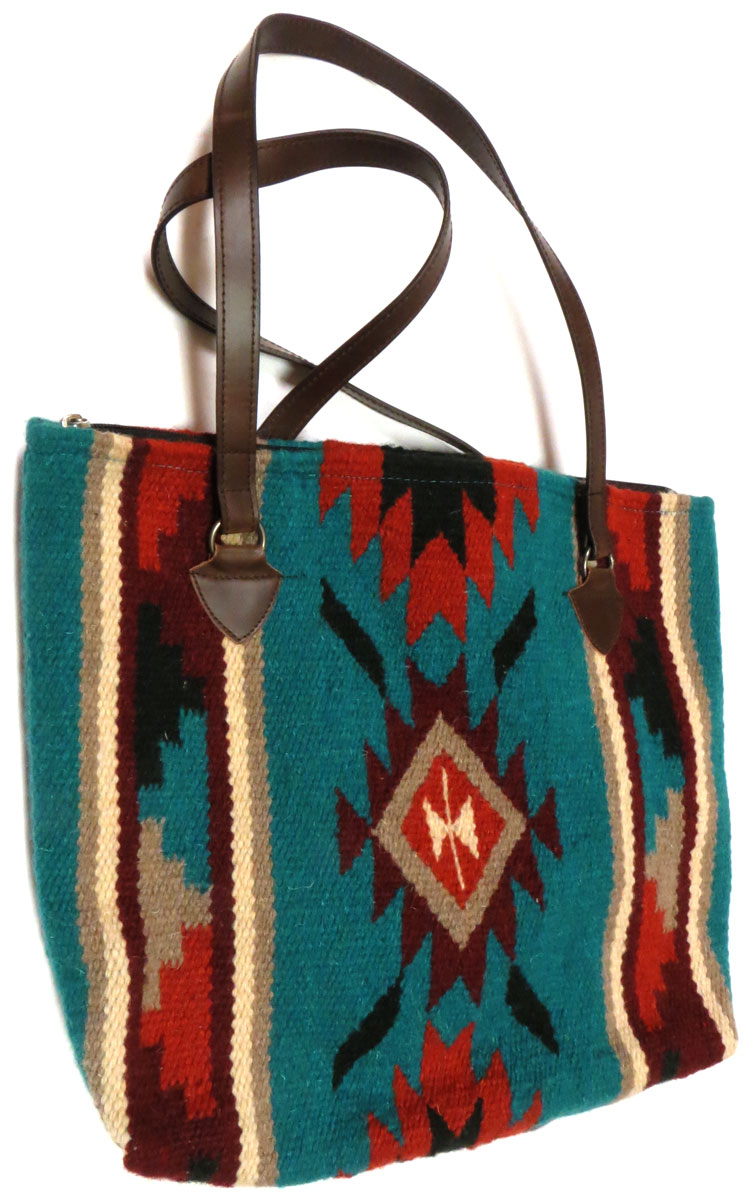 Woven Wool Shoulder Bag