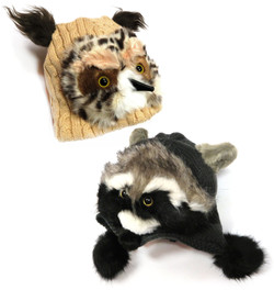 Owl & Raccoon Hats
