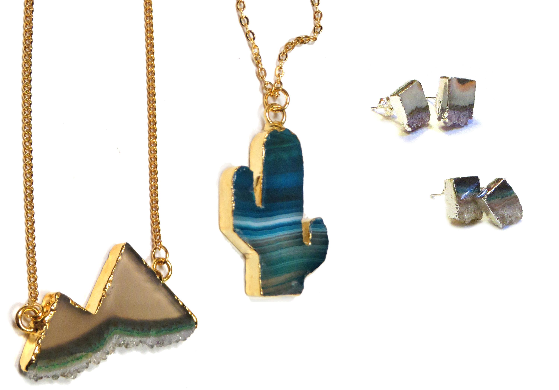 Druzy Agate Jewelry