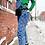 Thumbnail: '80s Feels Denim Checkered Overalls