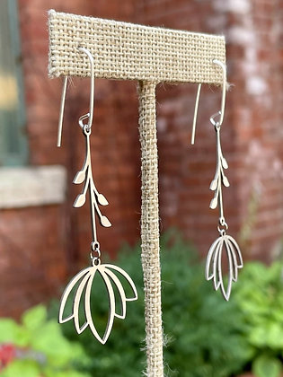 Falling Lotus Dangling Earrings