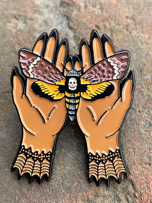 Death Moth Enamel Pin