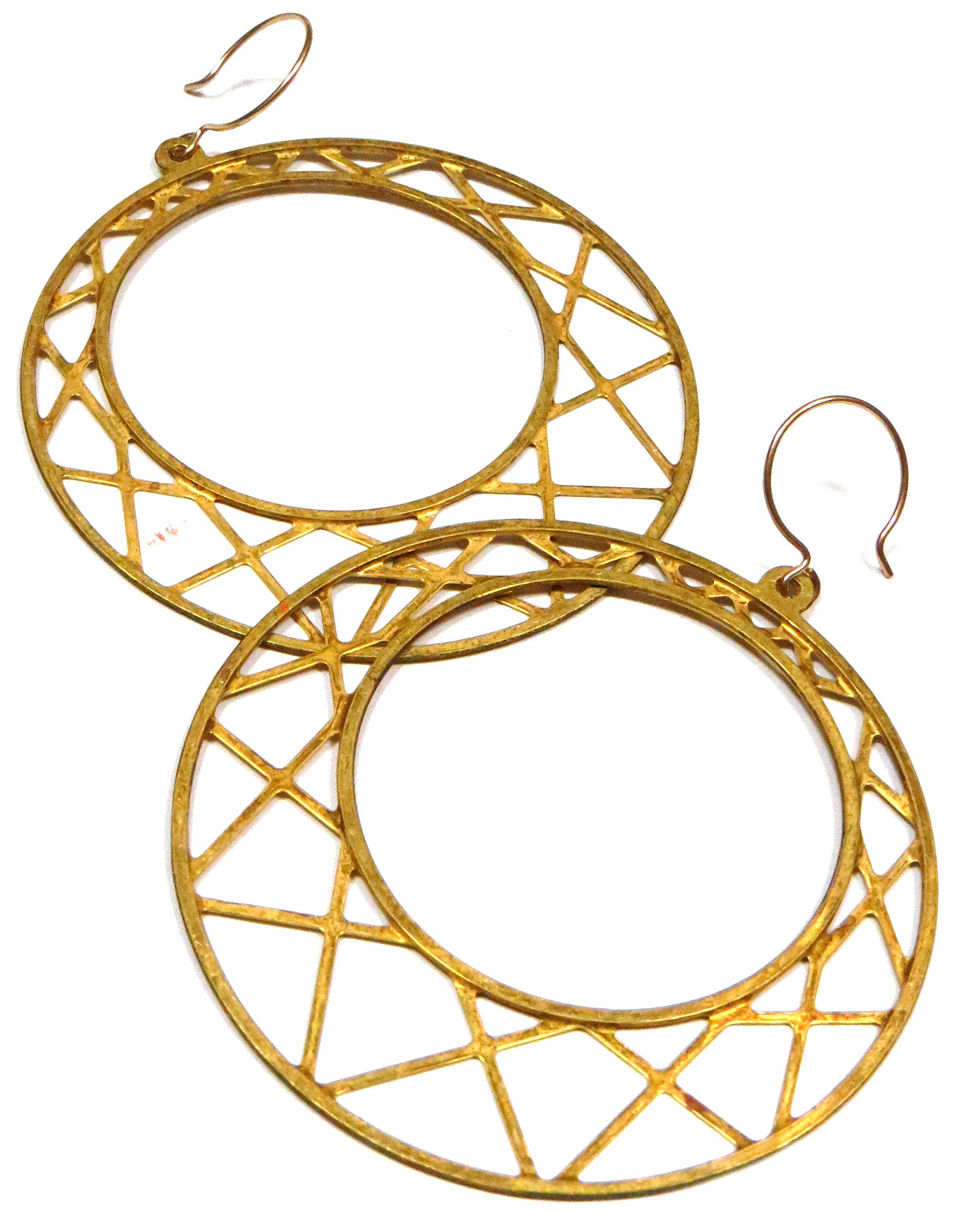 Geo Webbed Hoops