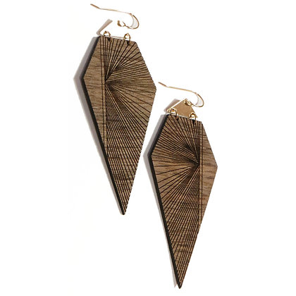 NEW Handmade Prism Wooden Earrings