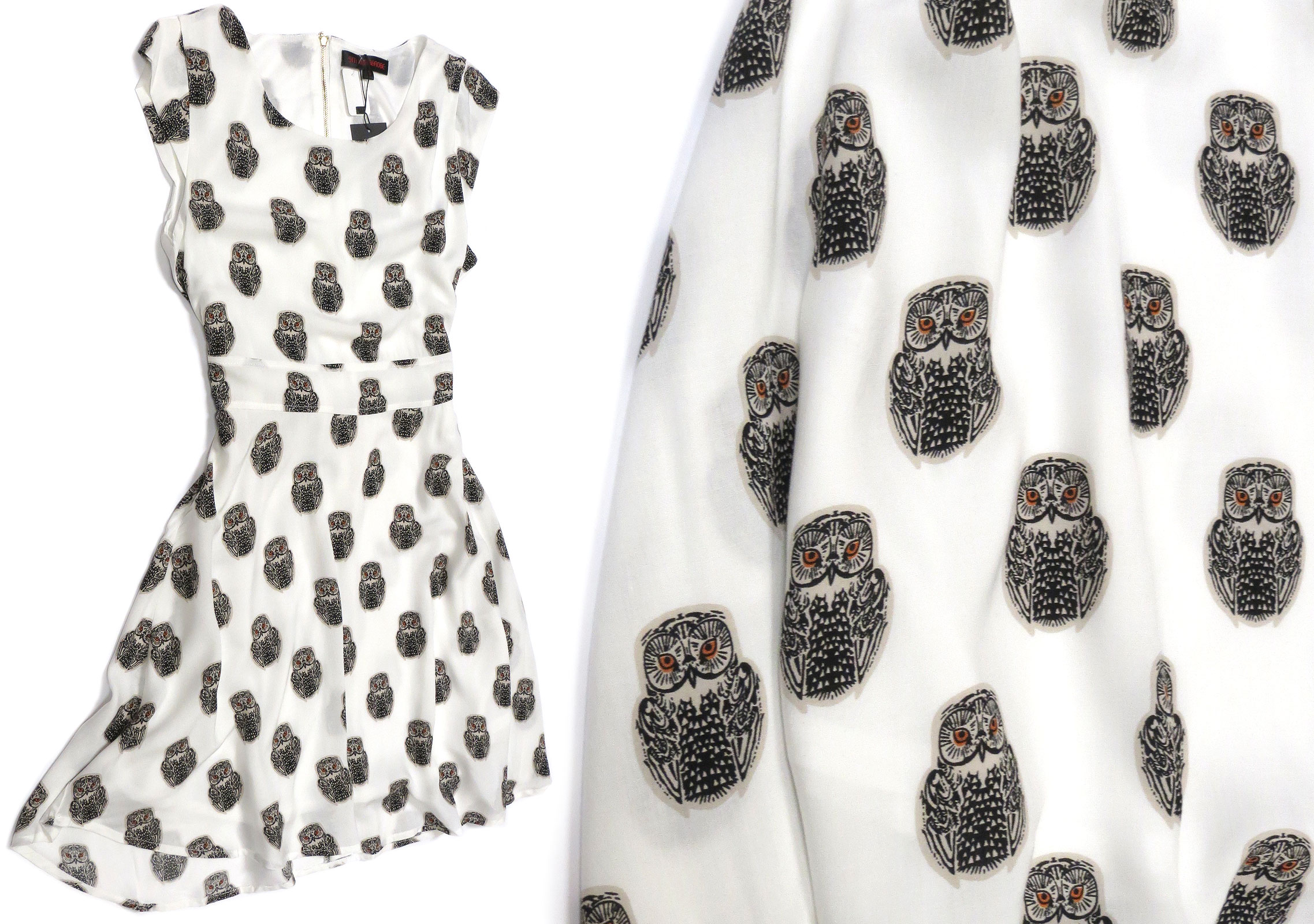Ivory Owl Dress