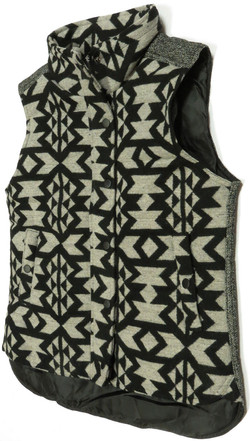 Geo Brushed Flannel Vest