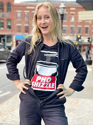 """Pho Shizzle"" Women's V-Neck T-Shirt"
