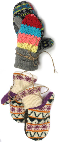 Upcycled Mittens