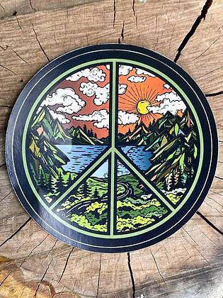 Peace Sign Scenic Vinyl Sticker