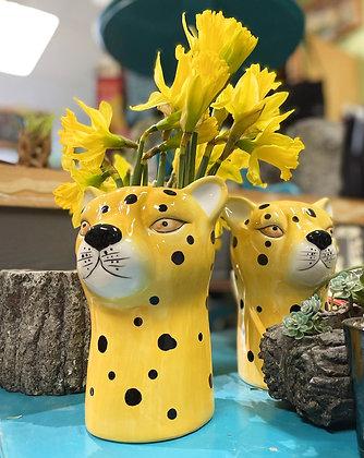 Ceramic Cheetah Vase
