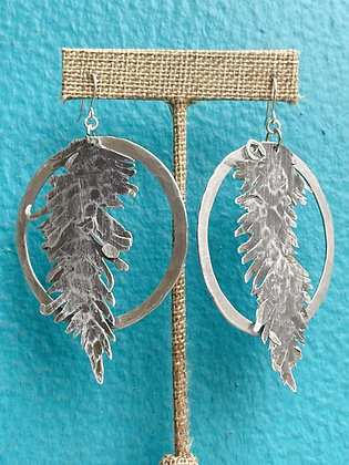 Locally Made Aluminum Feather Earrings