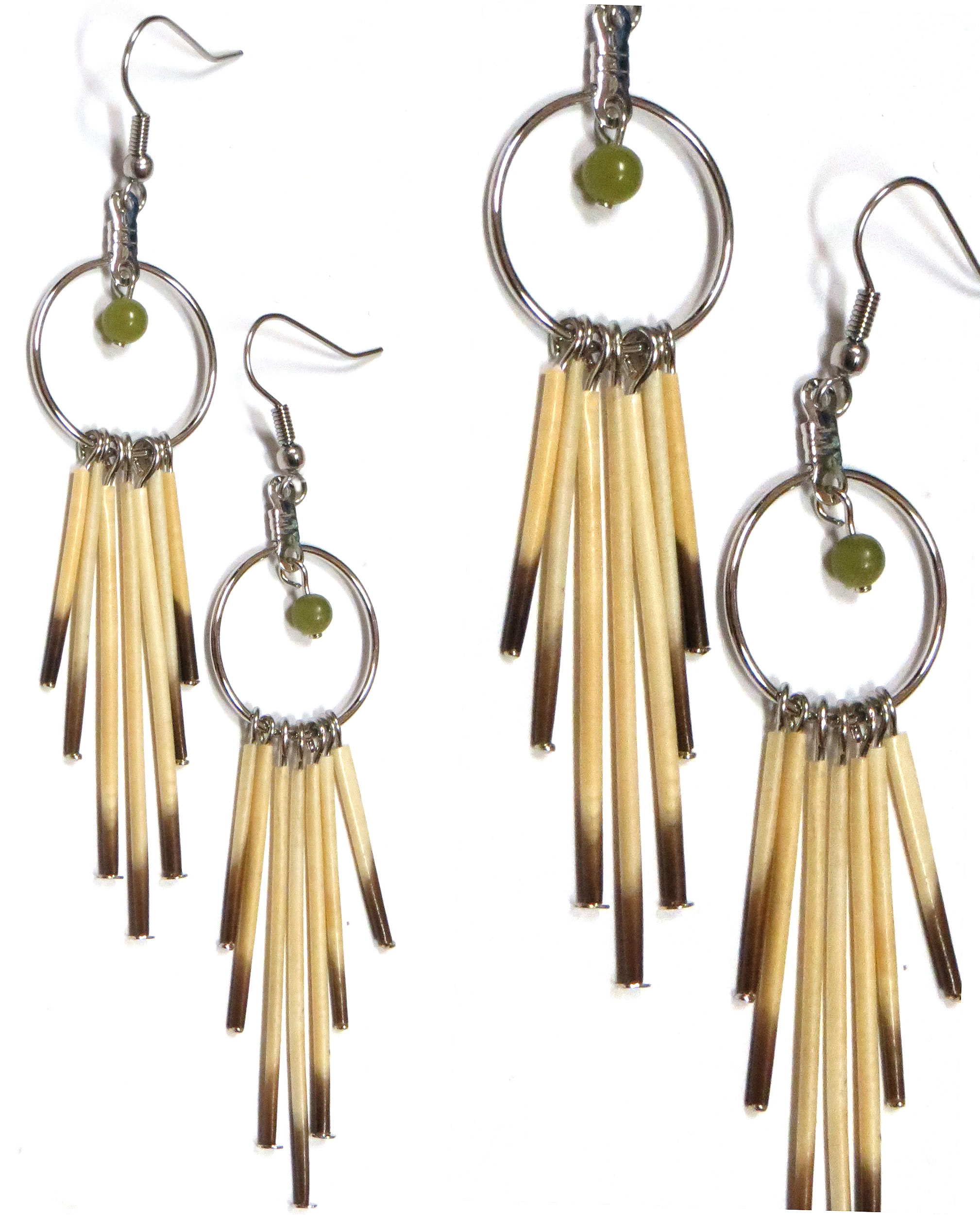 Procupine quill earrings with sterli