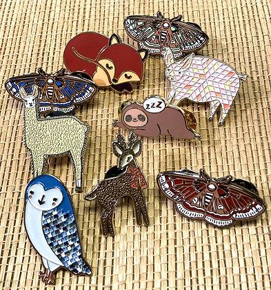 Enamel Animal Pin Collection