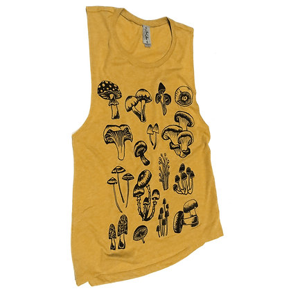 NEW Mustard Mushrooms Muscle Tank