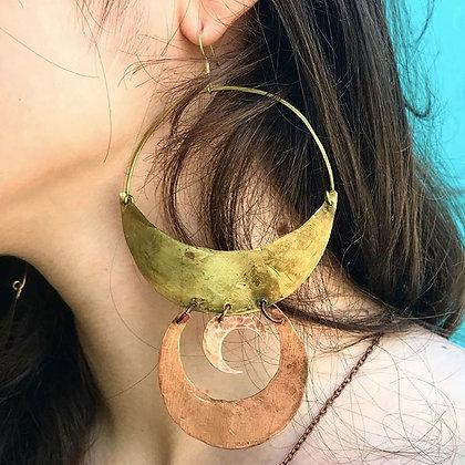 NEW Tatiyana Double Moon Earrings