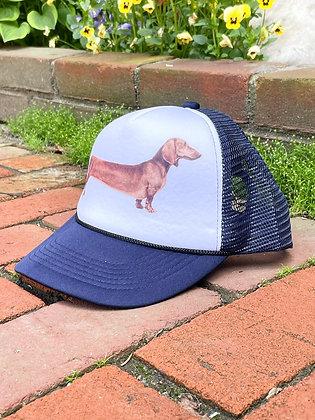 Extra Long Wiener Dog Mesh Back Trucker Hat