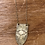 """Thumbnail: Tiny Anvil """"Eye of Vision"""" Brass Necklace"""