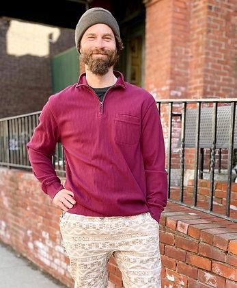 Chaps Half Zip Cotton Pullover