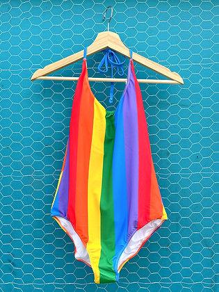 Rainbow Striped Swimsuit