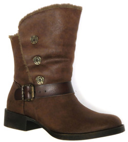 Three-Button Cropped Boot