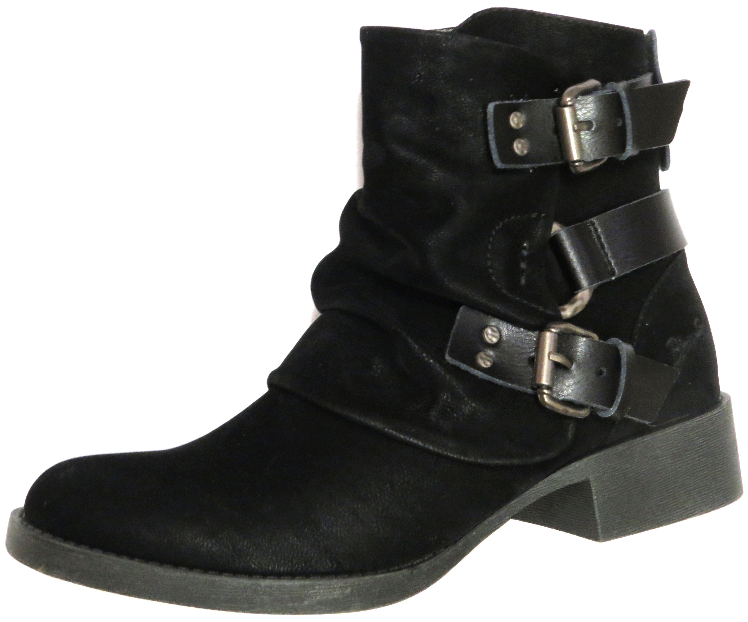 Cropped Buckle Boot