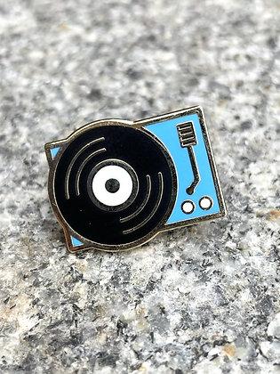Turntable Enamel Pin