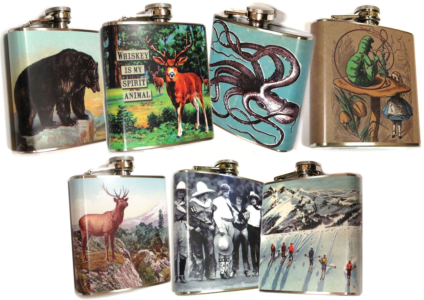 Graphic Flasks