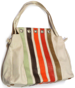 Orla Kiely Leather Shoulder Bag