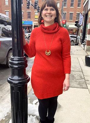 Loft Cowl Neck Knit Sweater Dress