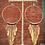 Thumbnail: Locally Handmade Brass Fringe Hoop Earrings