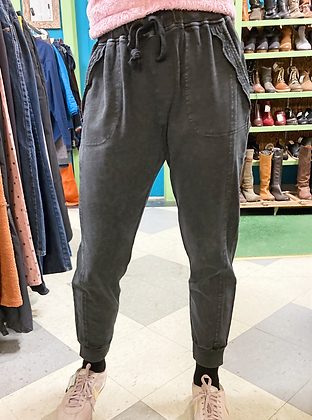 100% Cotton Cozy Distressed Joggers