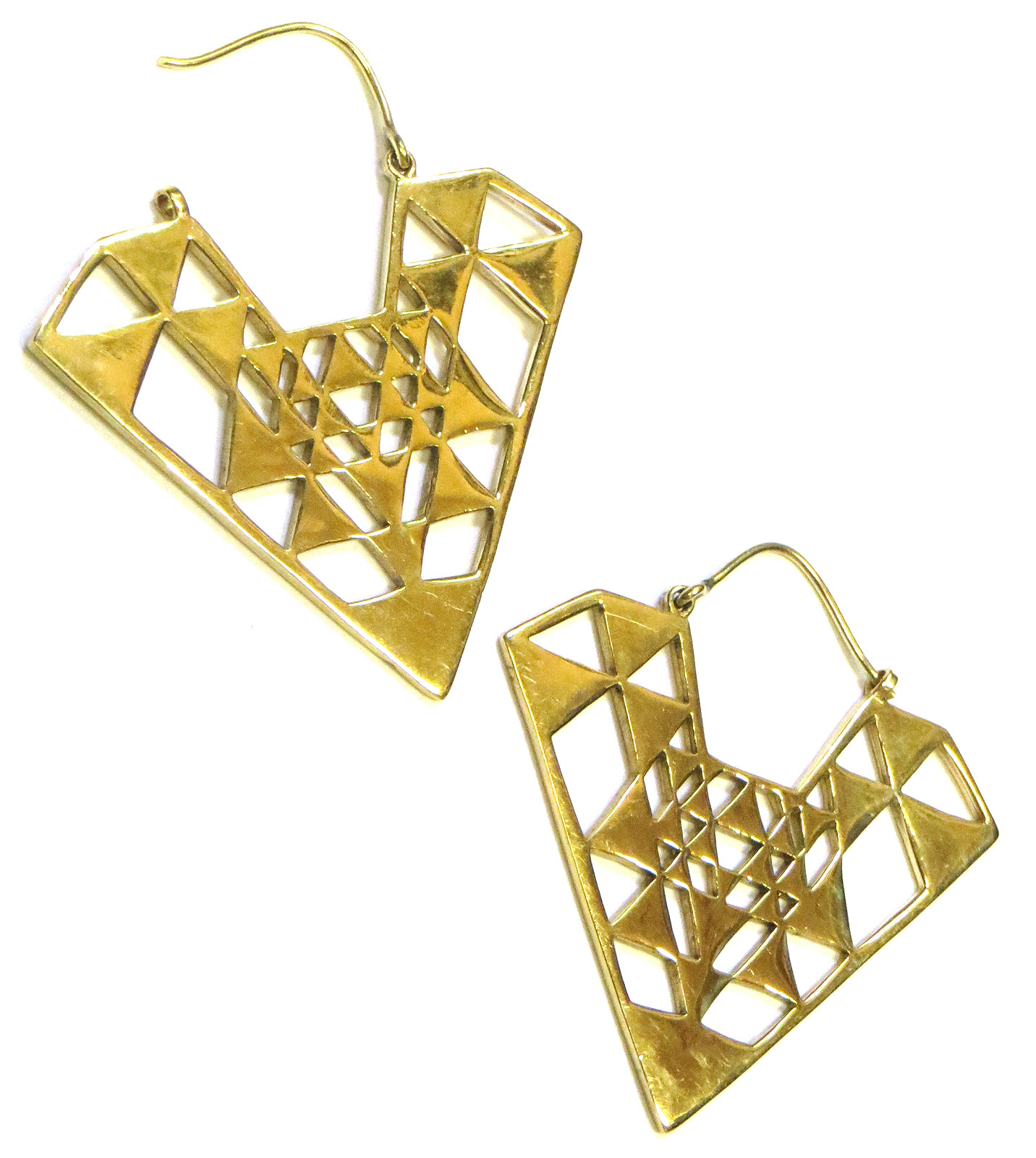 Geo Brass Earrings