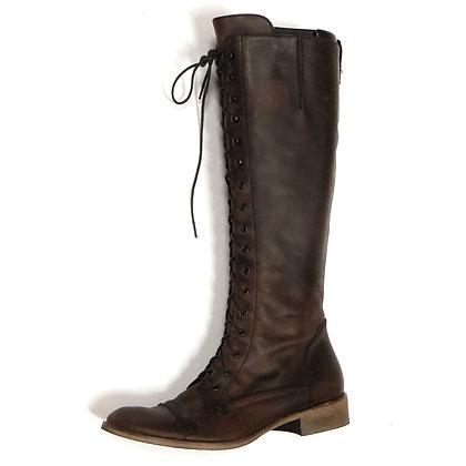 Dark Brown Charles David Italian Lace-Up Boots