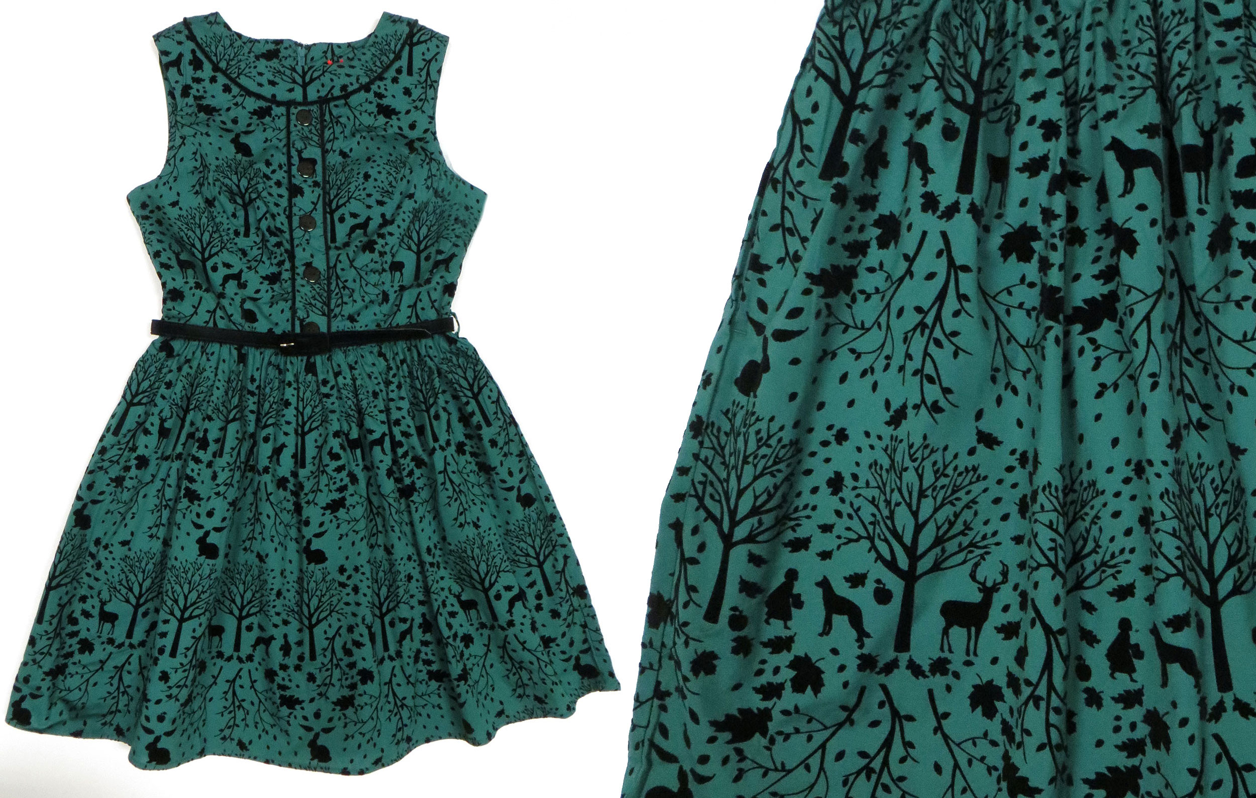 Teal Forest Dress