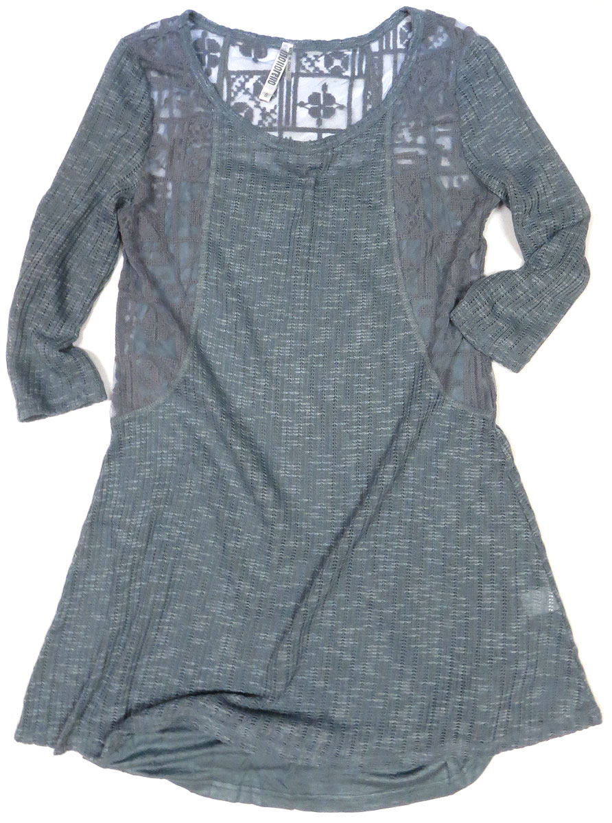 Eyelet Knit Tunic Dress