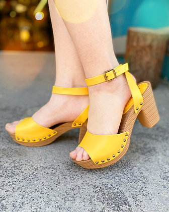 Sunshine Yellow Platform Sandals