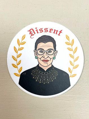 """""""Dissent"""" RBG Vinyl Sticker"""