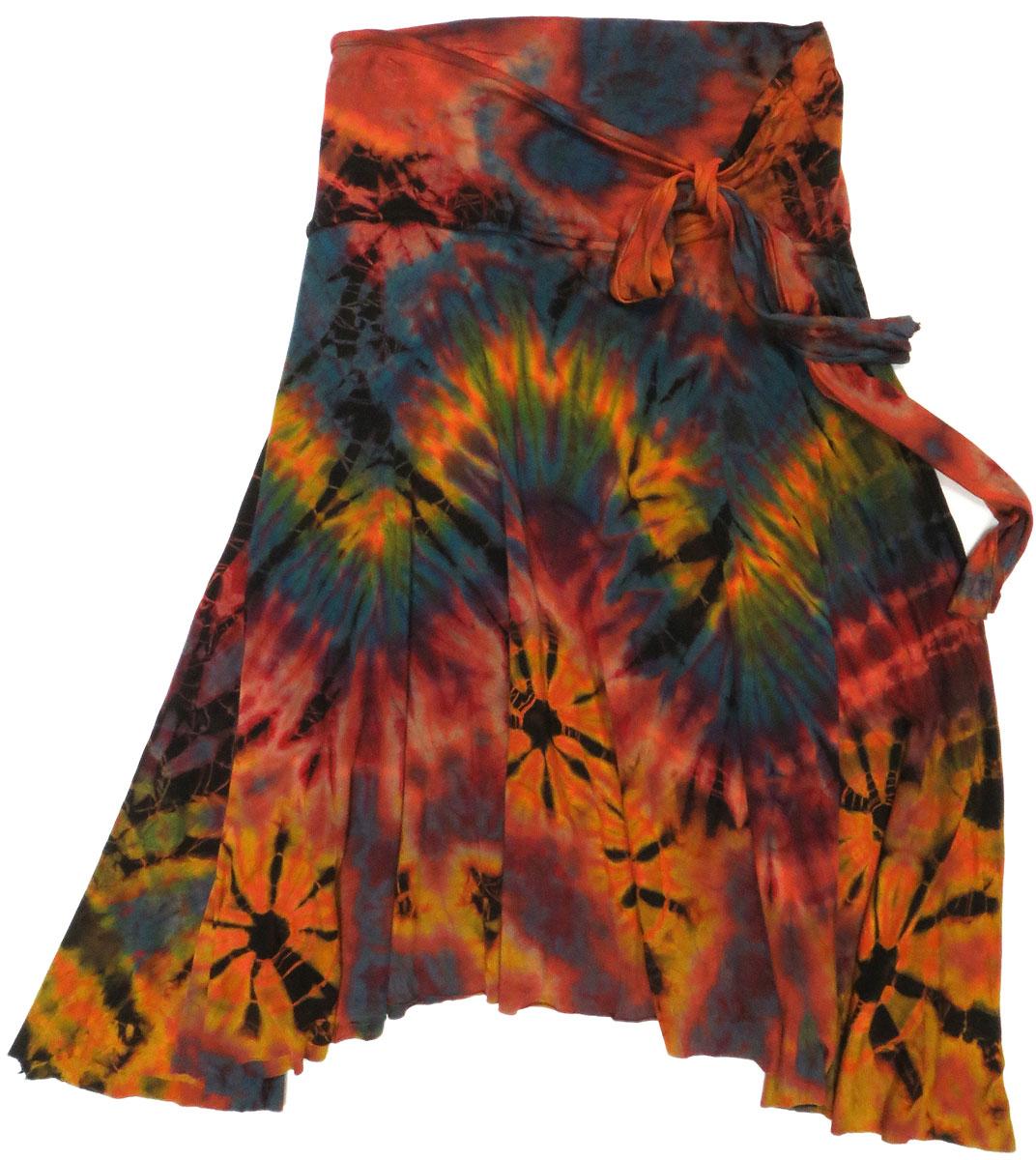 Tie Dye Jersey Skirt