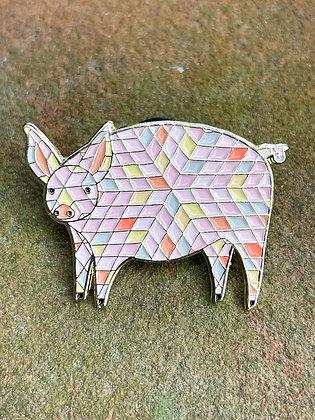 Pretty Pink Pig Enamel Pin