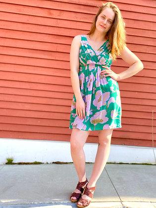 Tibi NY Pleated Silk Floral Dress
