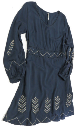 Eyelet Geo Dress