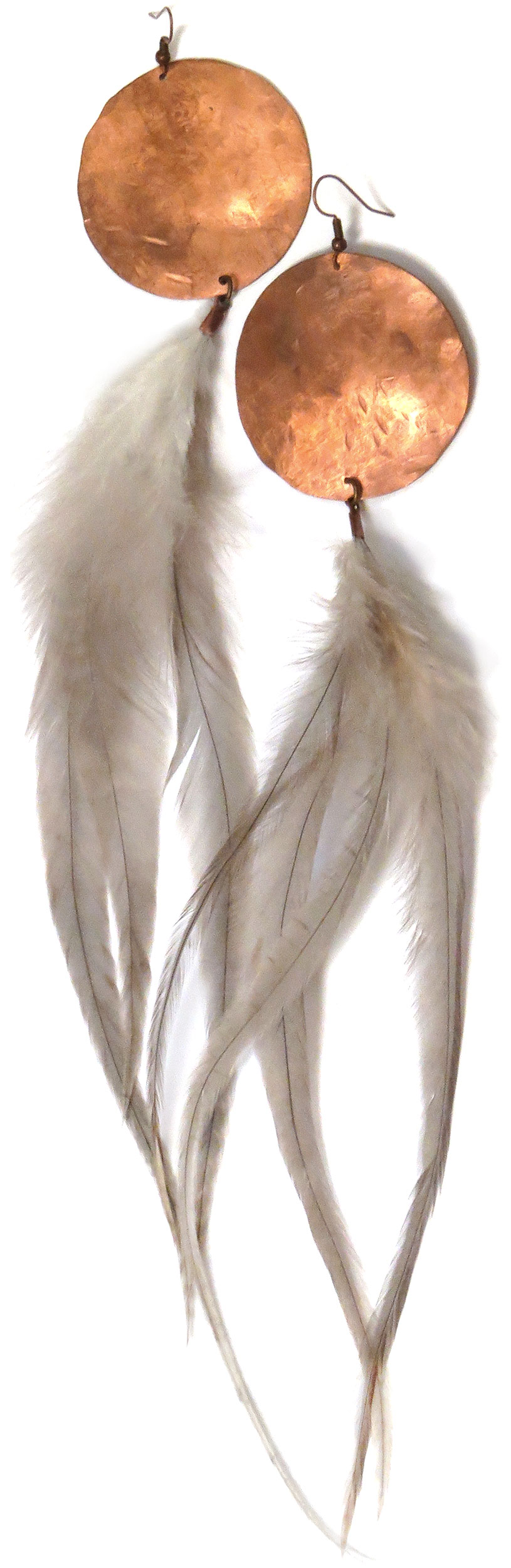 Medallion Feather Earrings