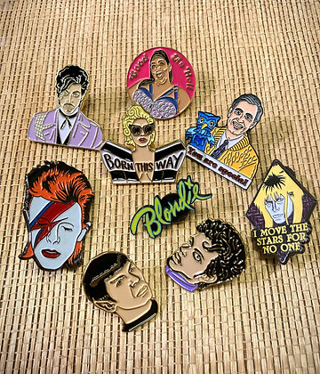 Celebrity Enamel Pin Collection