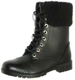 Fleece Combat Boot