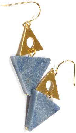 Geo Stone Earrings