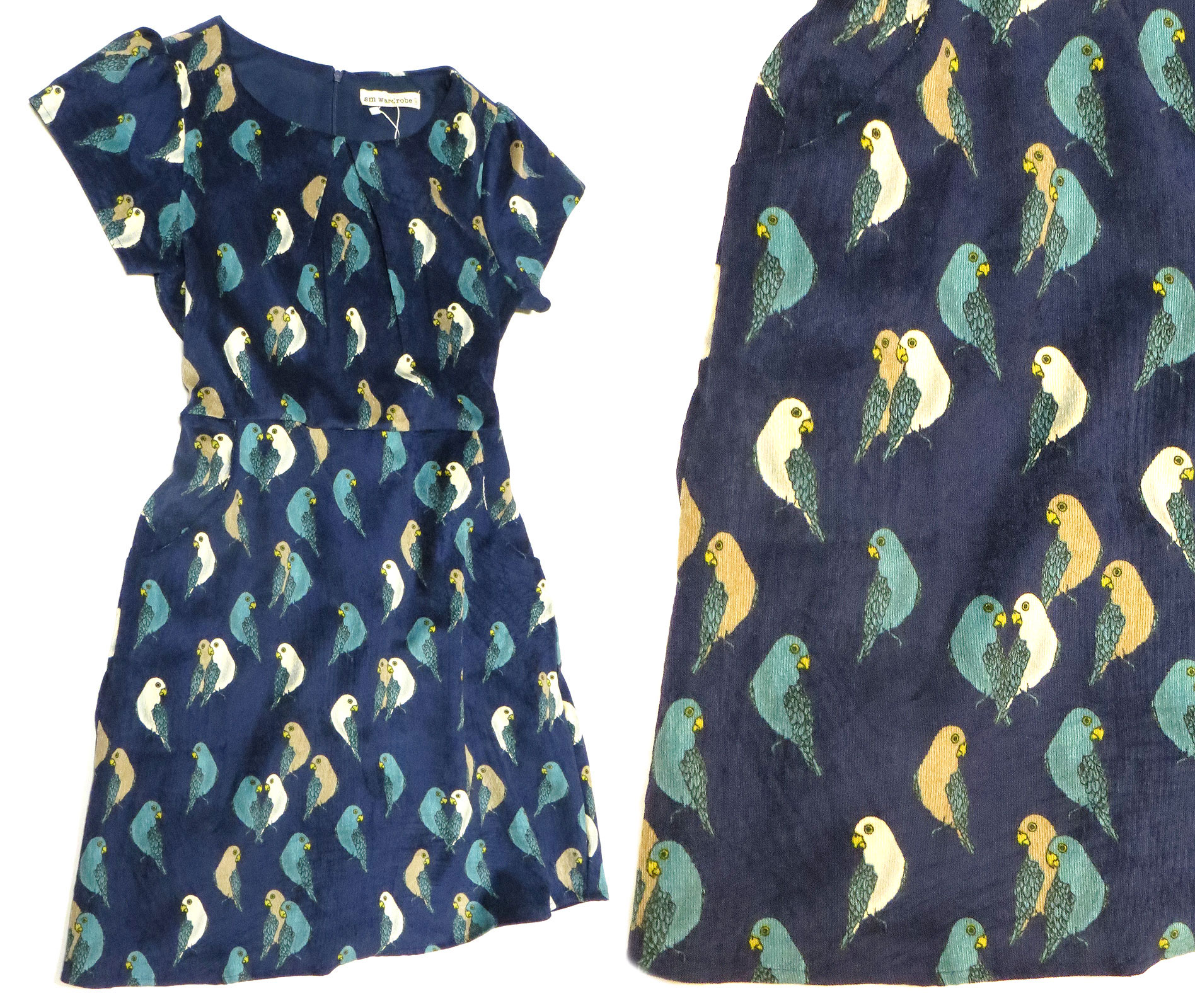 Corduroy Budgie Dress